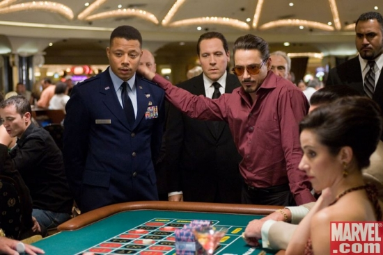 James Rhodes and Tony Stark at the roulette table