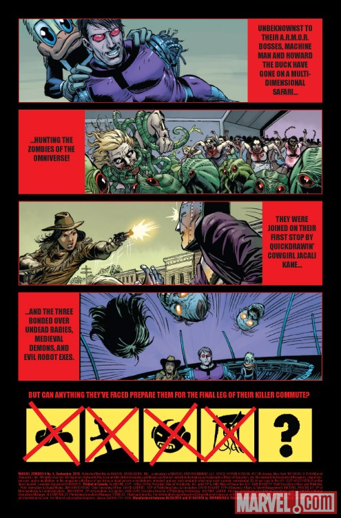 MARVEL ZOMBIES 5 #5 recap page