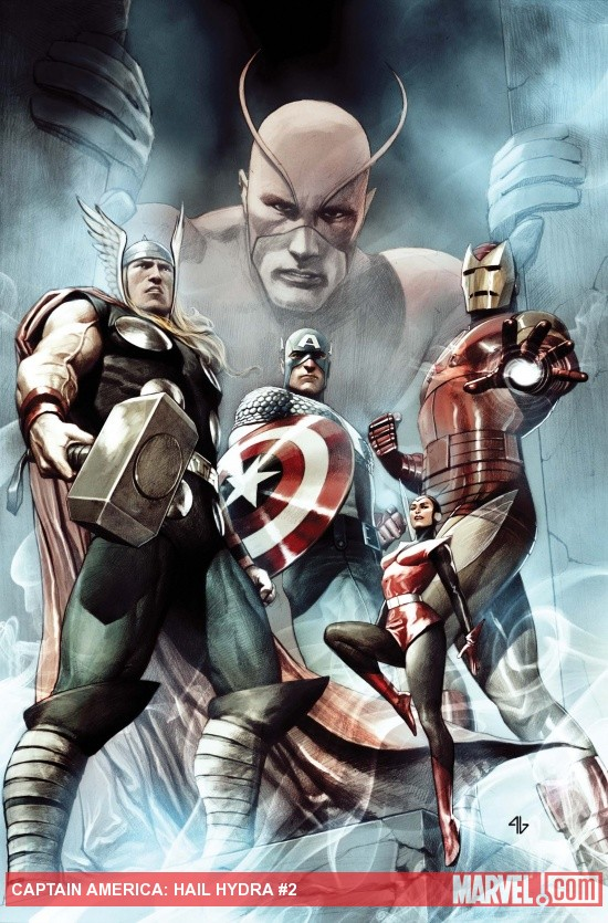 Captain America: Hail Hydra #2 cover by Adi Granov