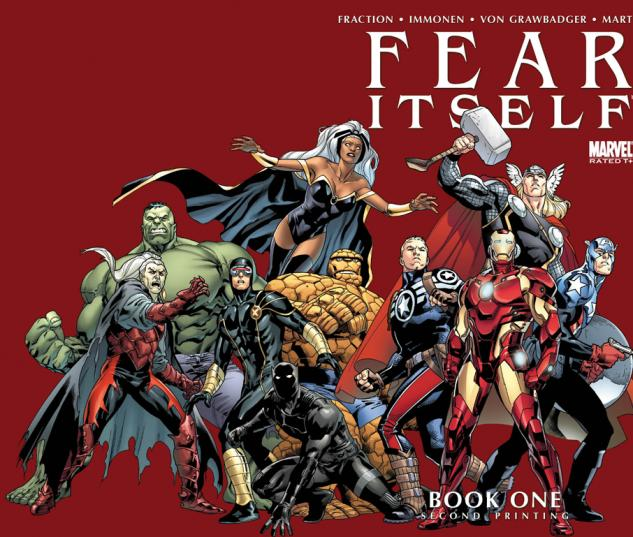 Fear Itself #1 Second Printing Variant cover by Stuart Immonen
