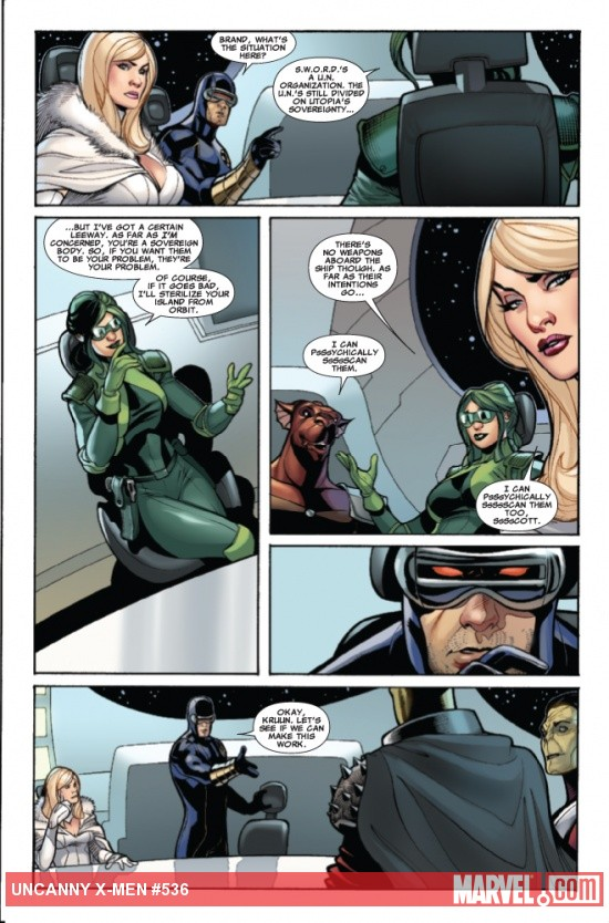 Uncanny X-Men #536 preview art by Terry Dodson