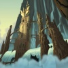 Background art of Asgard from Thor: Tales of Asgard