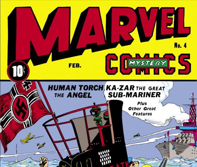 Marvel Mystery Comics (1939) #4 Cover