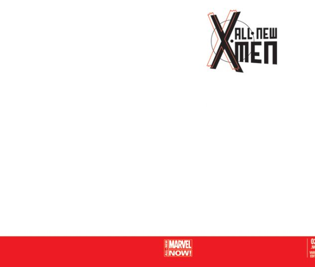 ALL-NEW X-MEN 22.NOW BLANK COVER VARIANT (ANMN, WITH DIGITAL CODE, INTERIORS ONLY)