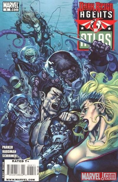 Image Featuring Human Robot, Gorilla Man, Sub-Mariner, Jimmy Woo, Venus (Siren), Agents of Atlas