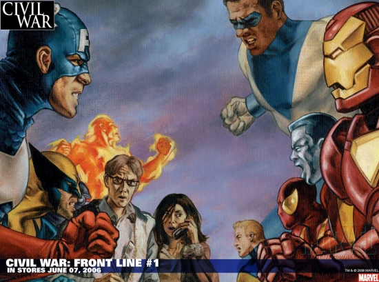 Civil War: Front Line (2006) #1 Wallpaper