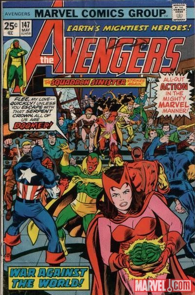 AVENGERS #147 cover by Rich Buckler