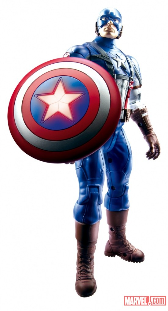 Hero Power Electronic Captain America from Hasbro at Toy Fair 2011