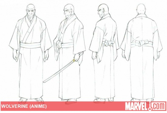 Shingen Concept Art from 'Wolverine' Anime