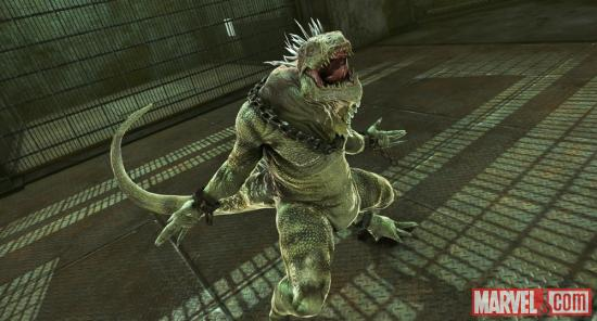 Screenshot of the Iguana from The Amazing Spider-Man video game