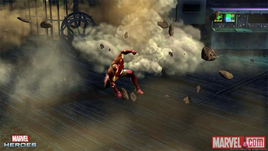 Screenshot of Iron Man from Marvel Heroes
