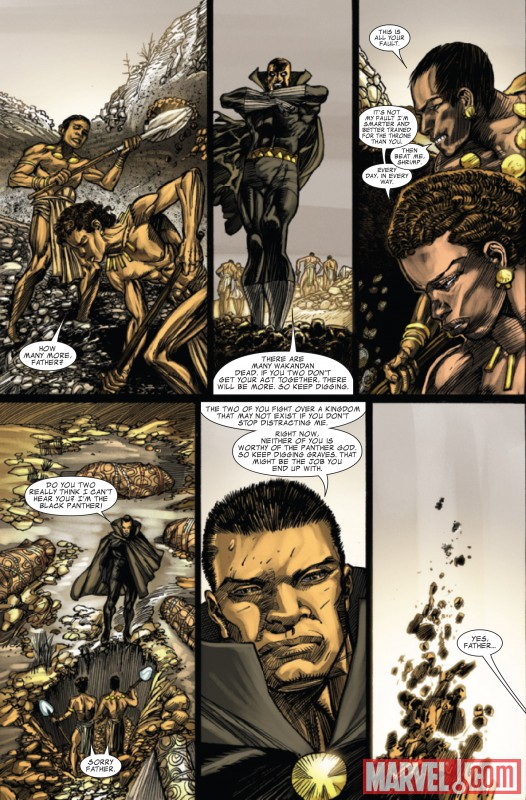 CAPTAIN AMERICA/BLACK PANTHER: FLAGS OF OUR FATHERS #3 preview art by Denys Cowan