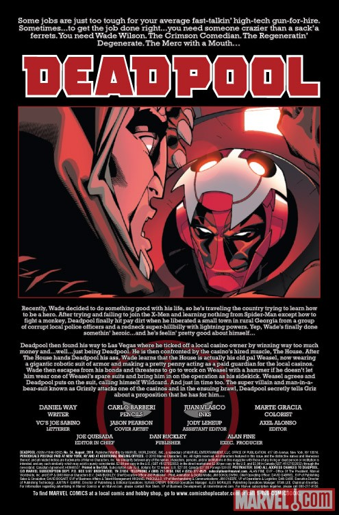 DEADPOOL #24 recap page