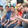 Tom Brevoort, Nick Lowe, Mark Paniccia, Axel Alonso, and C.B. Cebulski at Midtown Comics' Meet the Publishers