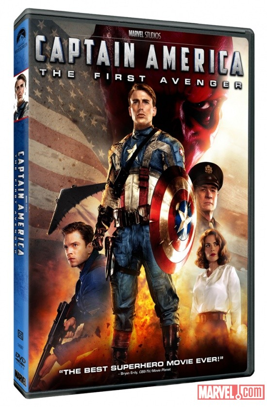 Captain America: The First Avenger DVD box art