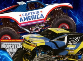 Captain America & Wolverine Monster Trucks