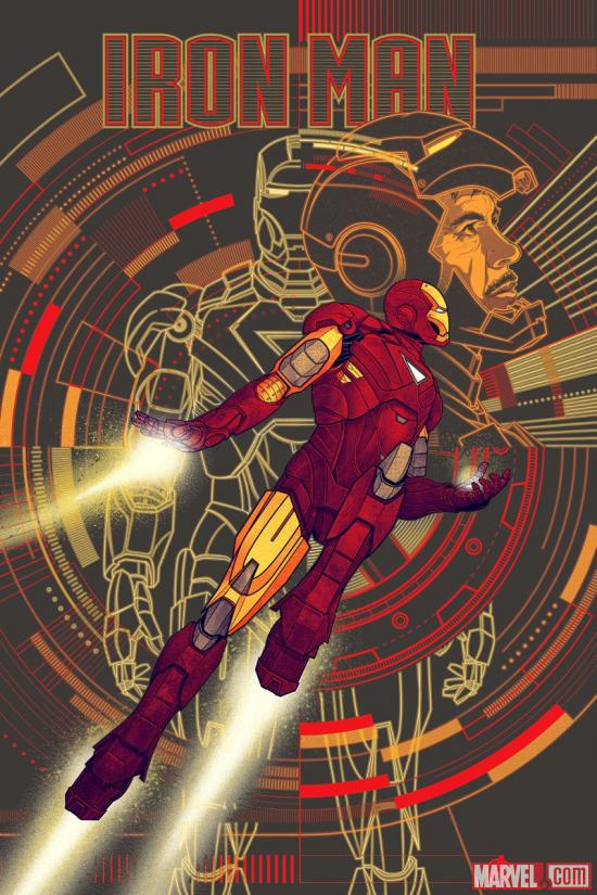 Marvel's The Avengers Iron Man poster by Kevin Tong for Mondo (Variant)