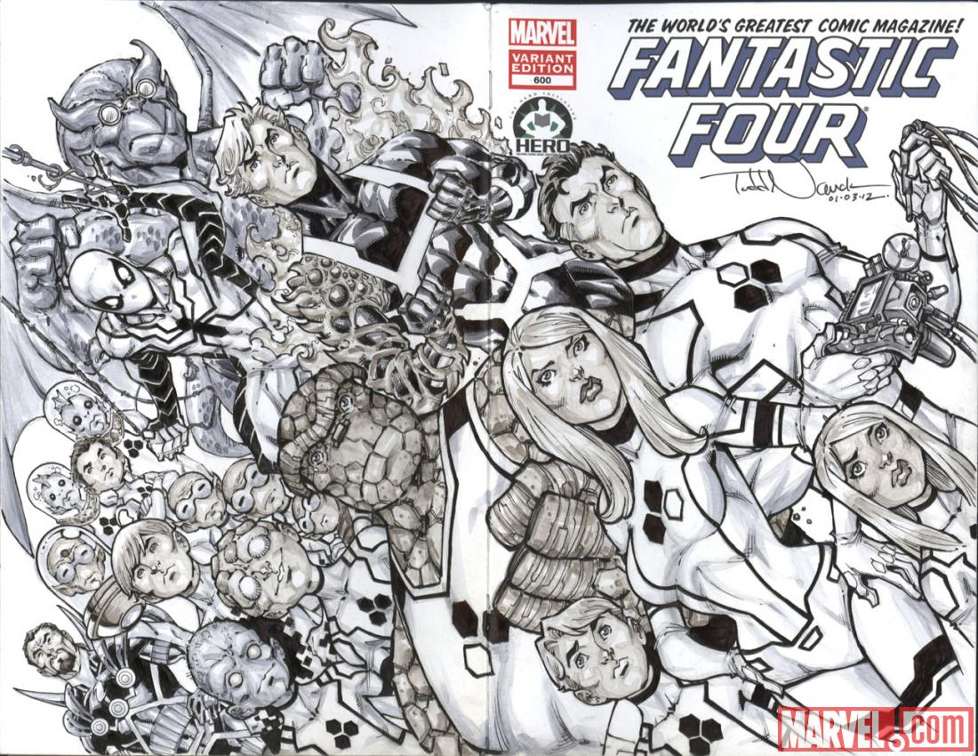 Fantastic Four #600 Hero Initiative variant cover by Todd Nauck