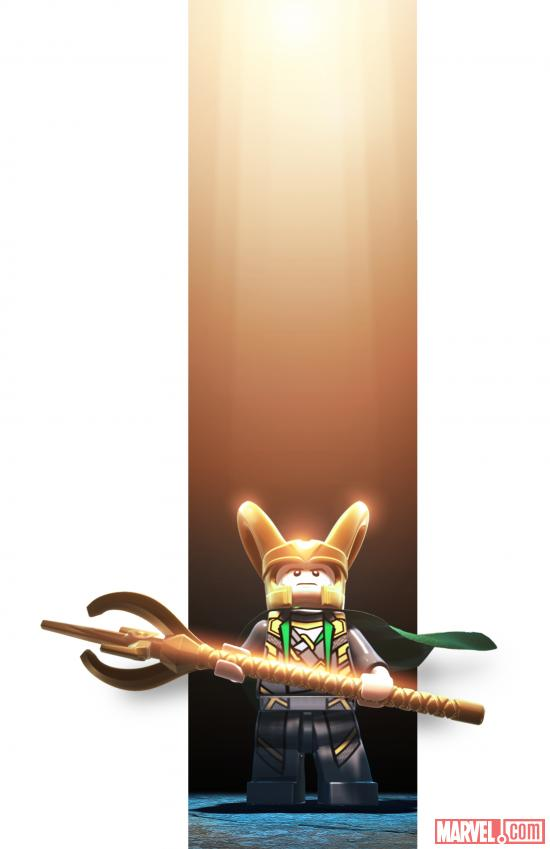 Loki character render from LEGO Marvel Super Heroes