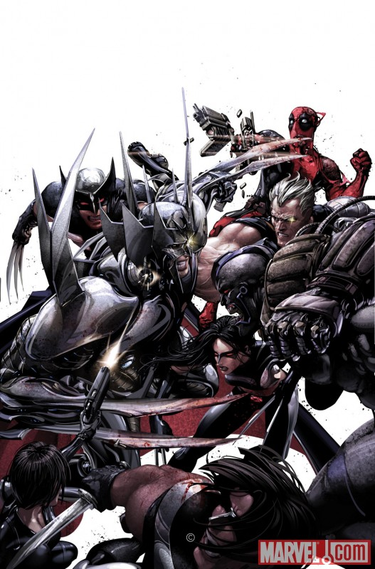 Image Featuring Warpath, Wolverine, X-23, X-Force, Cable, Deadpool
