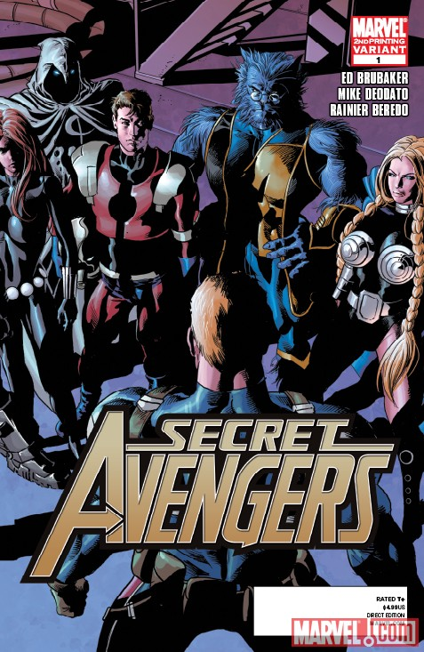 SECRET AVENGERS #1 SECOND PRINTING VARIANT by Mike Deodato