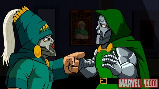 Dr. Doom and Coco Von Doom in The Super Hero Squad Show