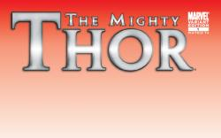 The Mighty Thor #1 blank variant cover