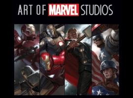 The Art of Marvel Studios slipcase cover art by Ryan Meinerding and Charlie Wen