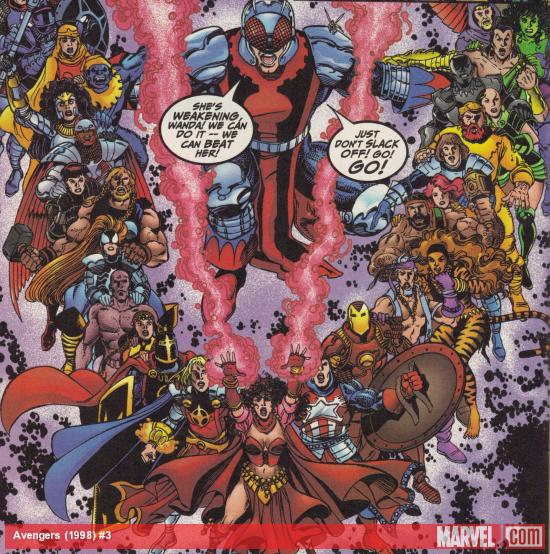 Avengers (1998) #3 art by George Perez