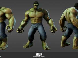 Character render of Hulk (Avengers movie costume from Marvel Heroes)