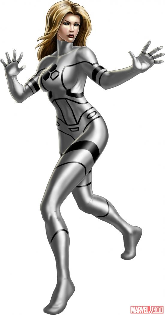 Invisible Woman (alternate costume) character model from Marvel: Avengers Alliance
