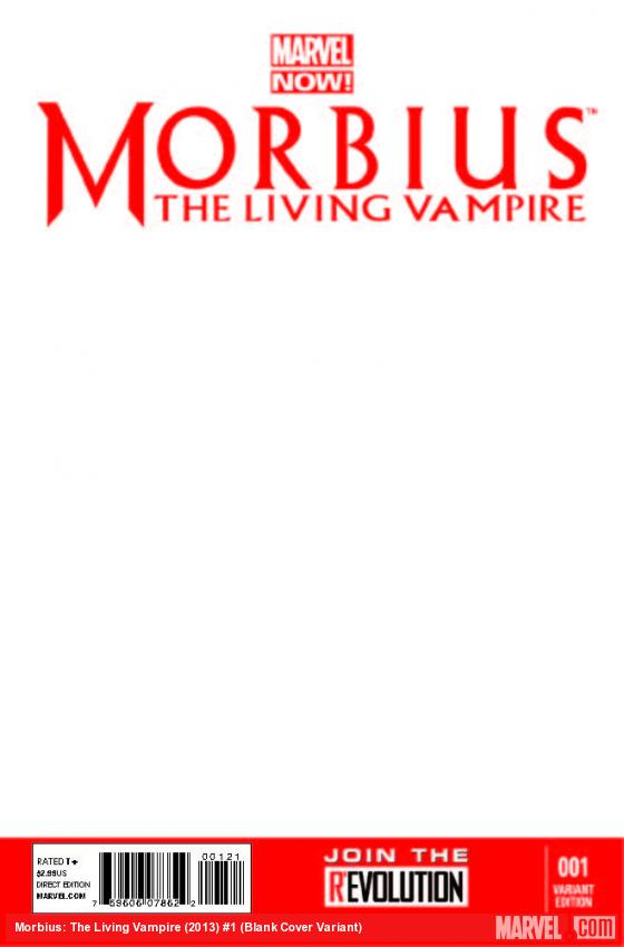 MORBIUS: THE LIVING VAMPIRE 1 BLANK COVER VARIANT (NOW, INTERIORS ONLY)