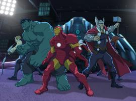 Hawkeye, Hulk, Iron Man, Falcon, Thor and Black Widow unite in Marvel's Avengers Assemble