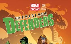 FEARLESS DEFENDERS 5 CONNOR VARIANT (NOW, 1 FOR 50)
