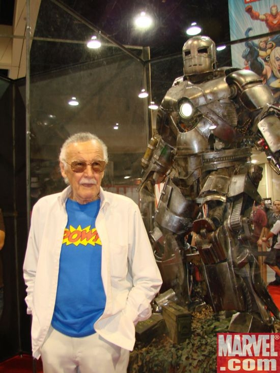 Stan Lee and the Iron Man armor