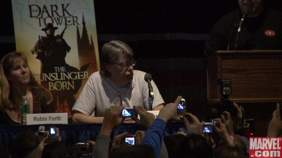 King and Furth at the Dark Tower panel