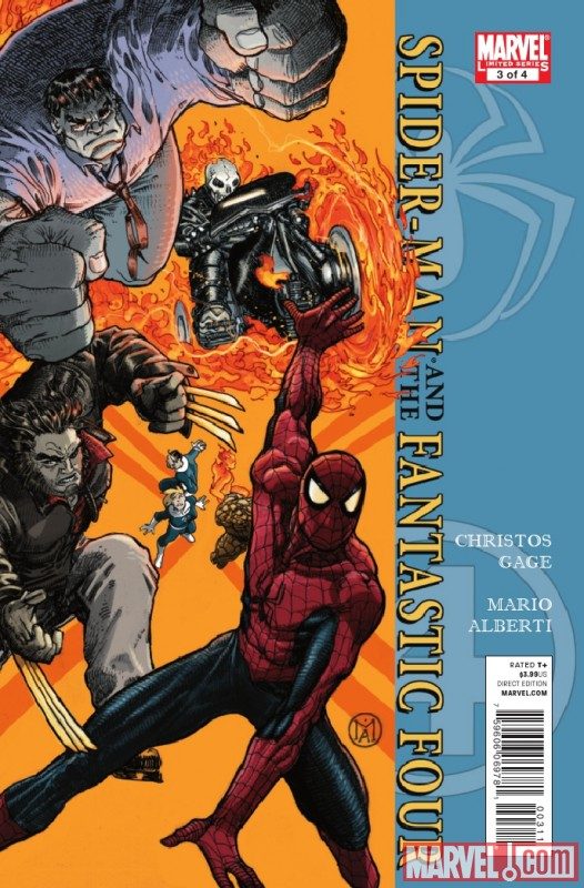 SPIDER-MAN/FANTASTIC FOUR #3 cover by Marco Alberti