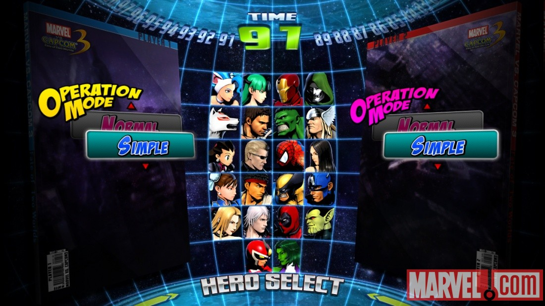 Marvel vs. Capcom 3 Operation Mode screenshot