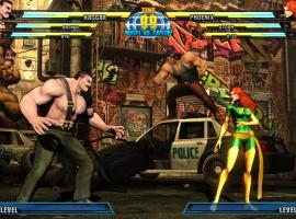 Phoenix and Haggar from Marvel vs. Capcom 3