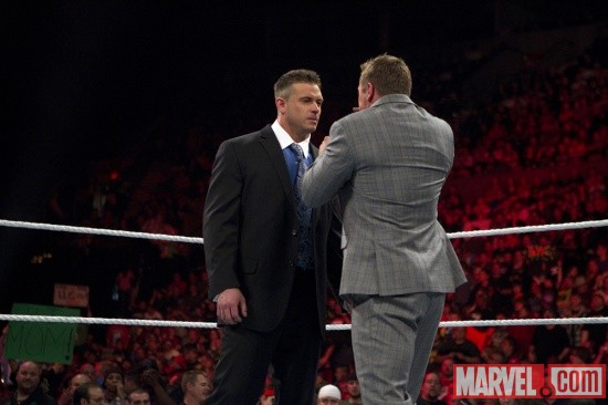 Alex Riley confronts The Miz