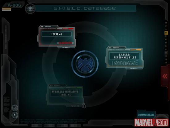 Screenshot from S.H.I.E.L.D. Files Database