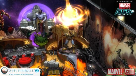 Screenshot from Marvel Pinball: Fear Itself for the Wii U.