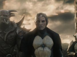 Malekith (Christopher Eccleston) & Kurse (Adewale Akinnuoye-Agbaje) lead an army of Dark Elves in Marvel's Thor: The Dark World