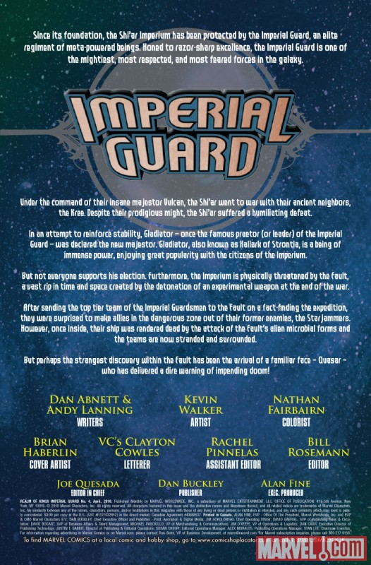 REALM OF KINGS: IMPERIAL GUARD #4 Recap Page
