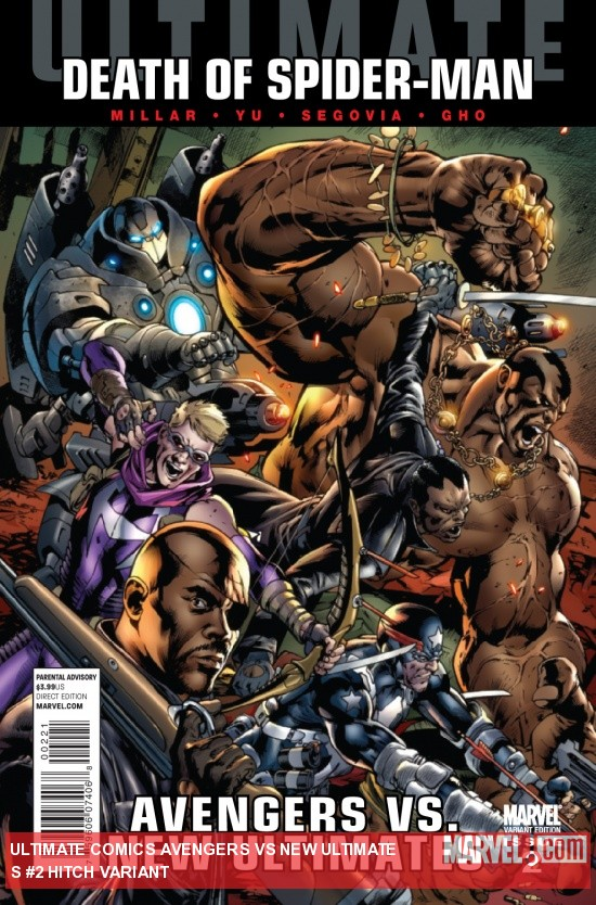 Ultimate Comics Avengers Vs New Ultimates #2 variant cover by Bryan Hitch