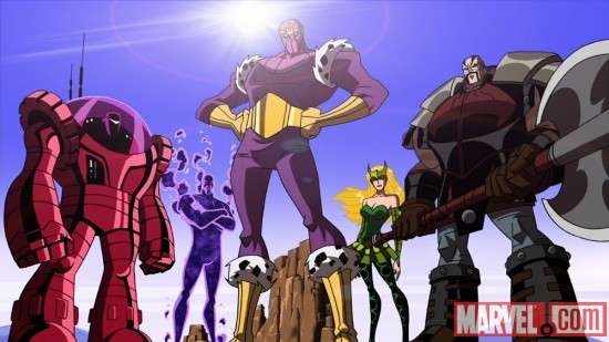 Screenshot of the Masters of Evil from The Avengers: Earth's Mightiest Heroes!
