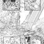 Fear Itself: Fearsome Four #1 inked preview art by Ryan Bodenheim