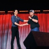 Tom Hiddleston and Kevin Feige at D23 2011
