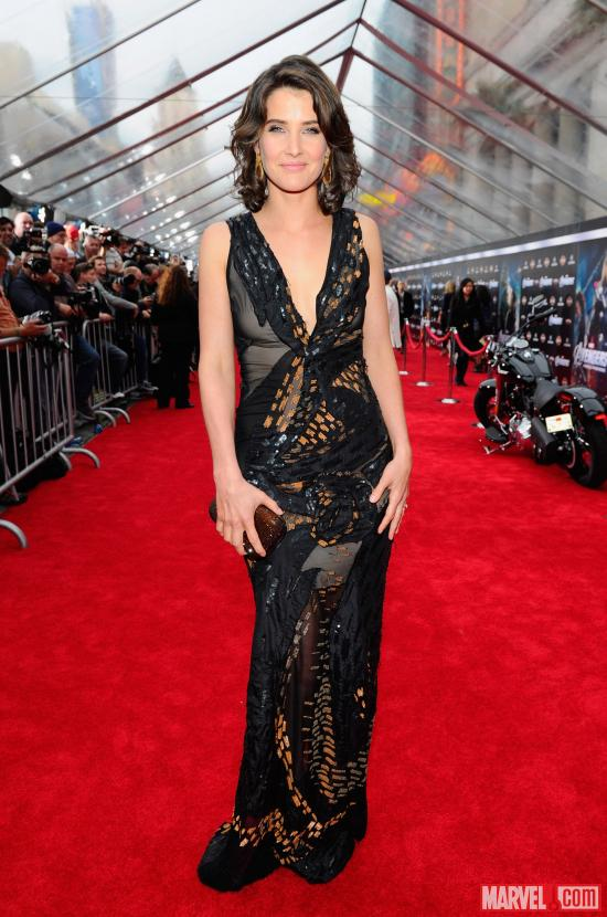 Cobie Smulders on the Avengers red carpet
