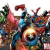 Image Featuring Falcon, Thing, Hawkeye, Thor, Hulk, Vision, Human Torch, Wolverine, Invisible Woman, Captain Marvel (Carol Danvers), Iron Man, The Winter Soldier, Mr. Fantastic, Quicksilver, Beast, Spider-Woman (Jessica Drew), Captain America, Spider-Man, Doctor Strange